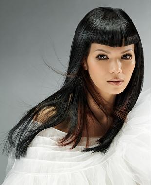 Tagli di capelli lunghi senza frangia
