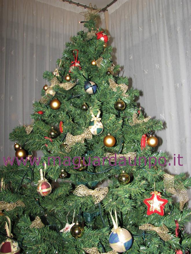 Palline di natale per l 39 albero come farle con il - Nastri decorativi per albero di natale ...